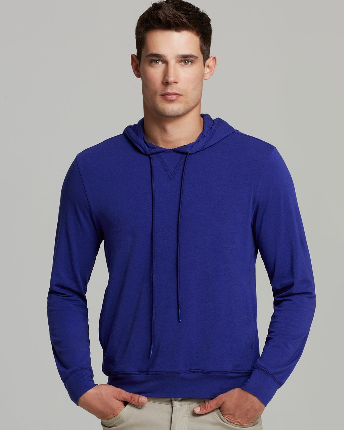 Theory Treck H Encase Tech Hoodie in Blue for Men | Lyst