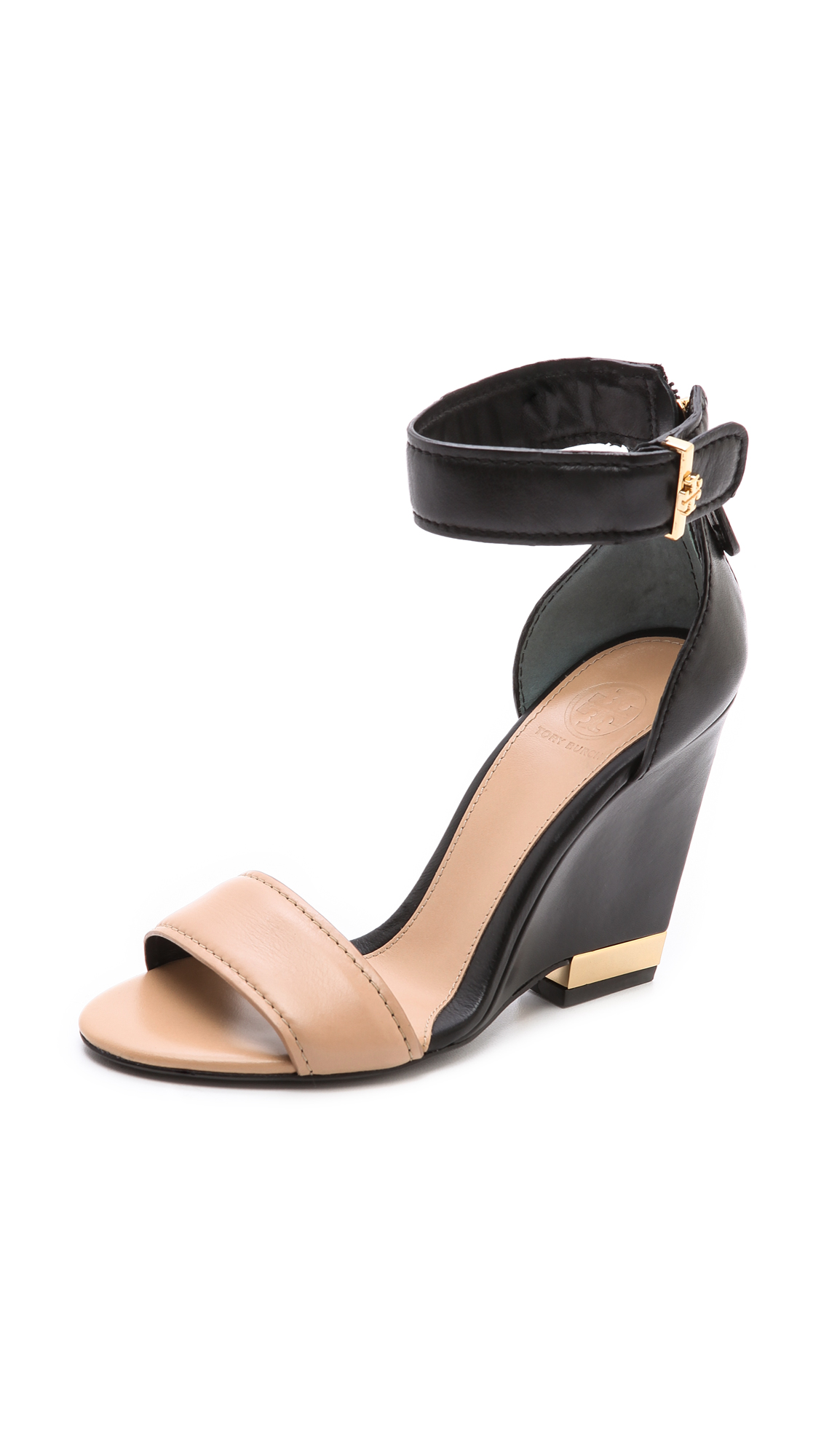 3e9918ea2cf1e Lyst - Tory Burch Carolyn Wedge Sandals in Black