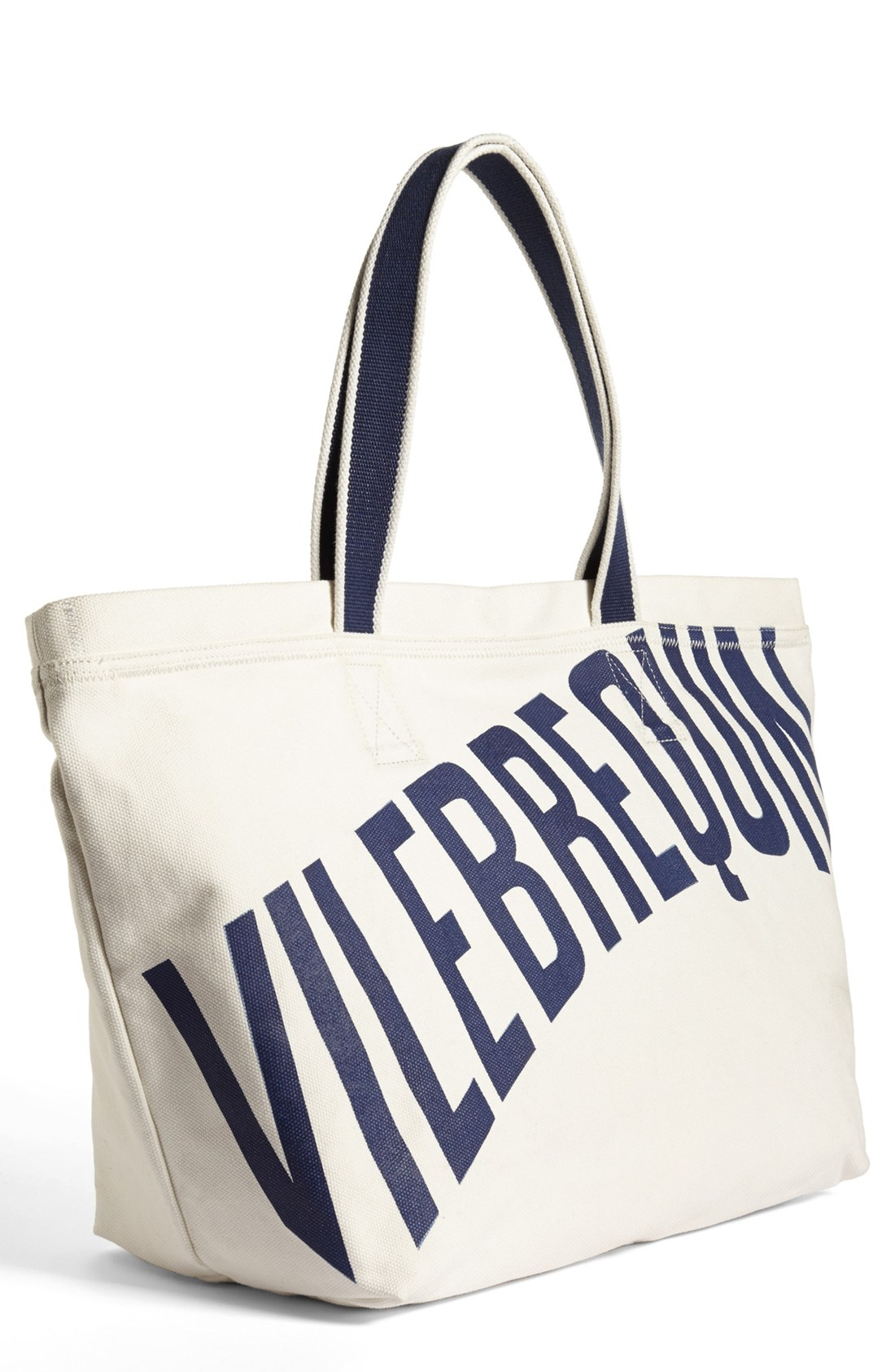 Vilebrequin Logo Large Canvas Beach Tote in White for Men | Lyst