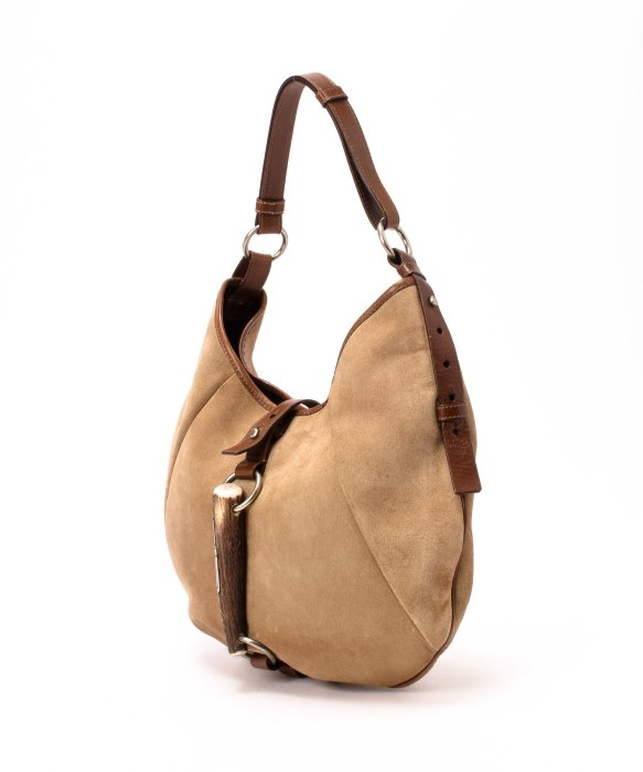 ysl beige suede handbag