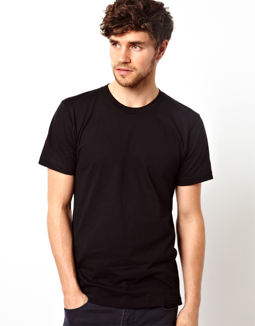 American apparel T-shirt in Black for Men | Lyst
