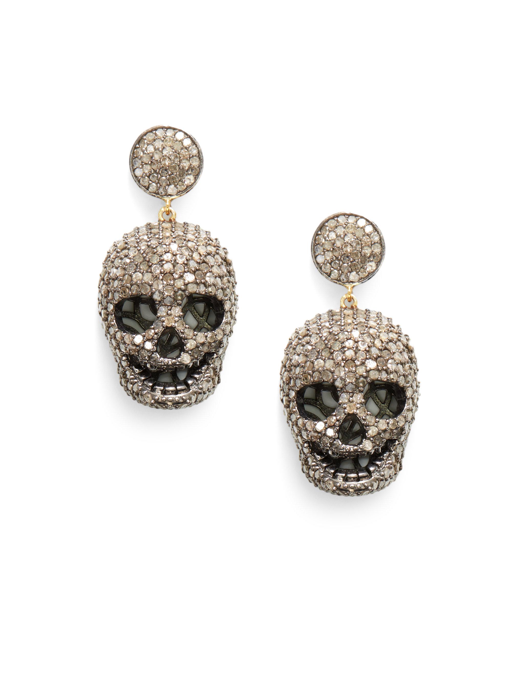 Bavna Diamond Pavé Stud Earrings ku8vPPc35e