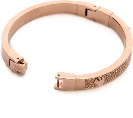 michael kors glitz astor bangle bracelet rose gold in. Black Bedroom Furniture Sets. Home Design Ideas