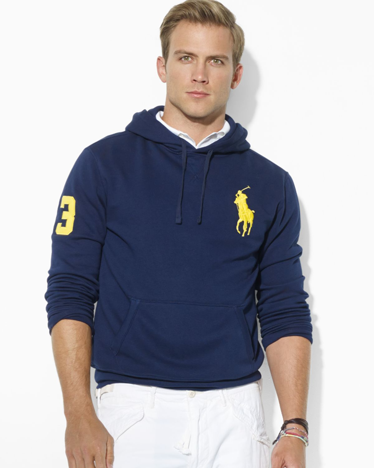 Ralph lauren Polo Big Pony Beach Fleece Pullover Hoodie in Blue for Men (French Navy) | Lyst