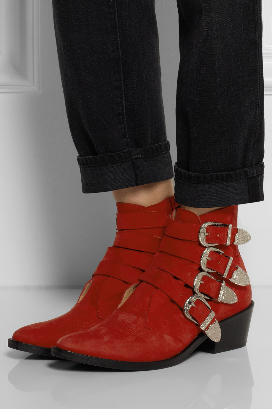 Outlet Locations Cheap Price TOGA PULLA Buckle suede ankle boots Discounts Outlet Store Locations Buy Cheap Low Price Fee Shipping Limited Edition Online YSpZVzhHJF