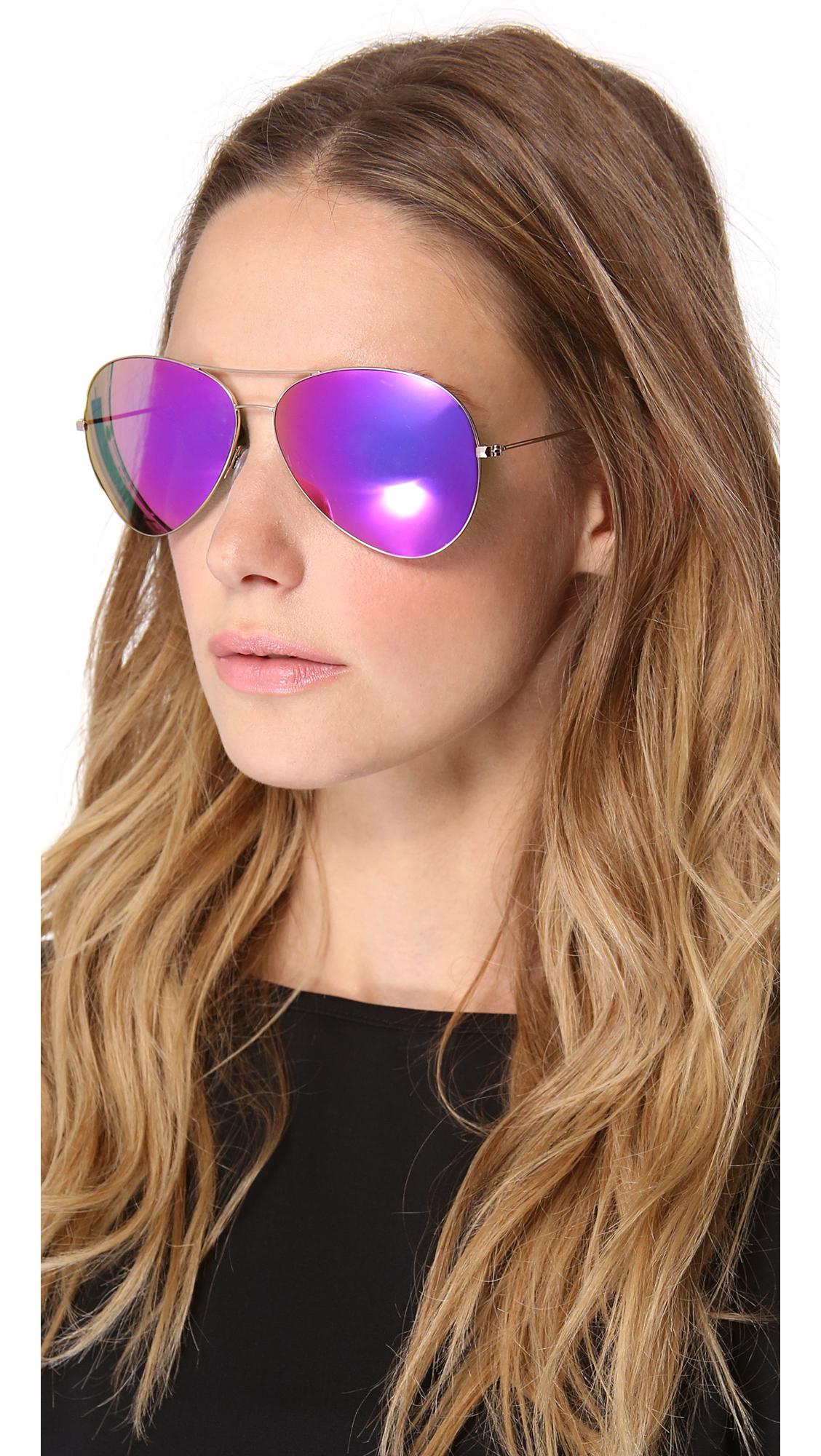Lyst Victoria Beckham Classic Aviator Sunglasses