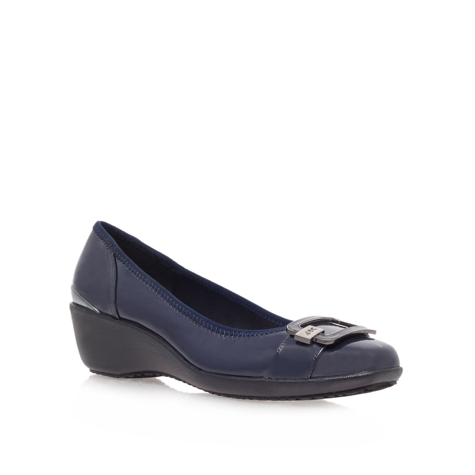 Navy Blue Court Shoes Designer