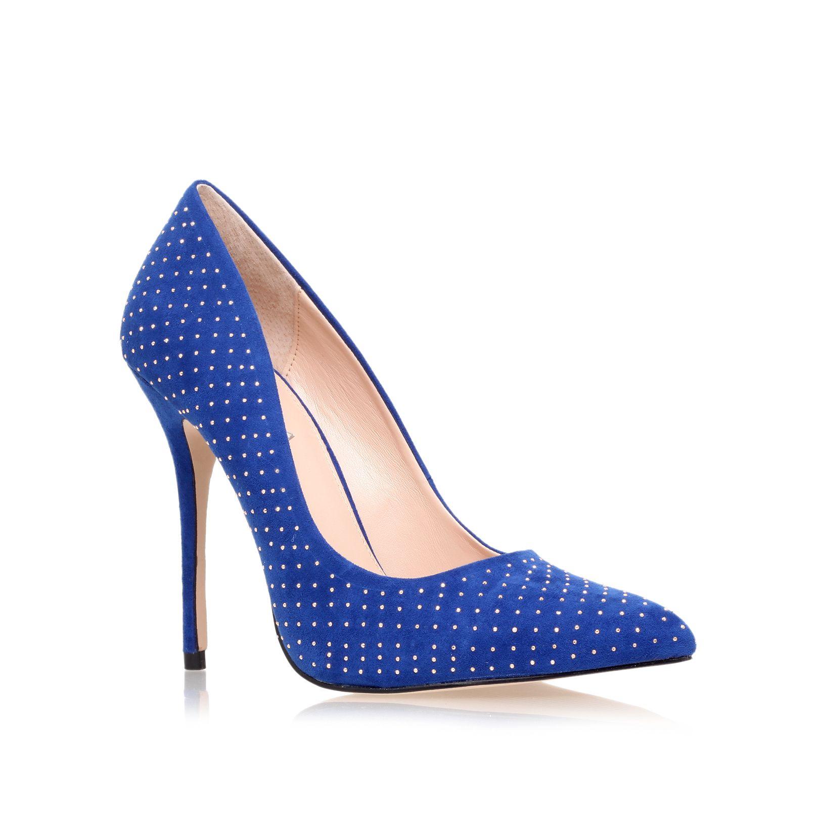 carvela kurt geiger gun high heel court shoes in blue lyst