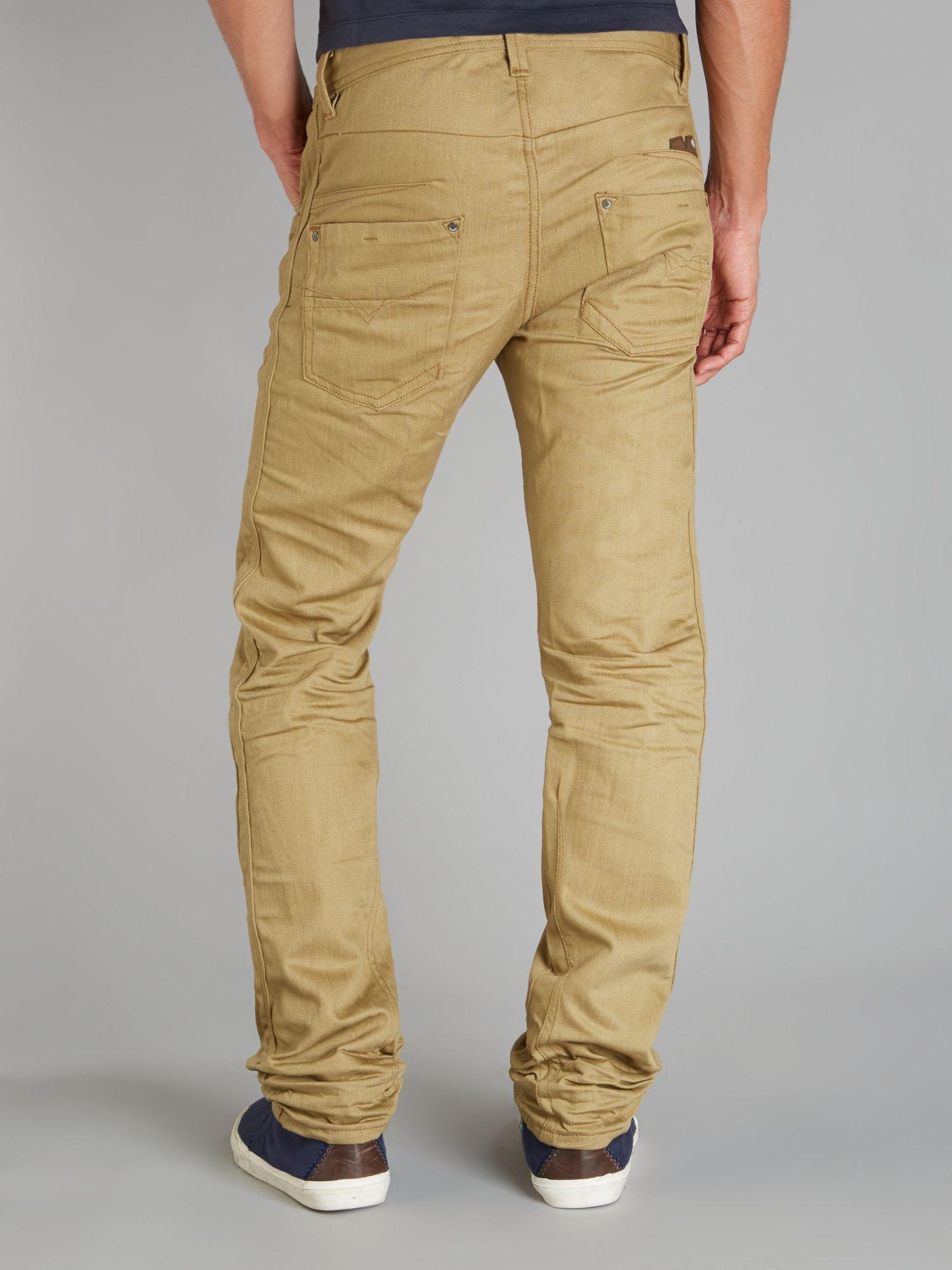diesel darron 8qu regular slim fit jeans in natural for men lyst. Black Bedroom Furniture Sets. Home Design Ideas