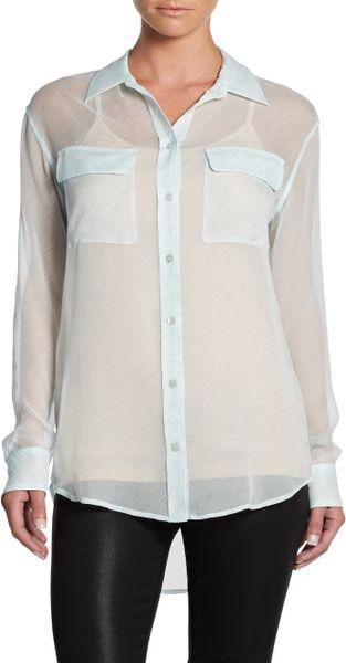 White Sheer Silk Blouse 63