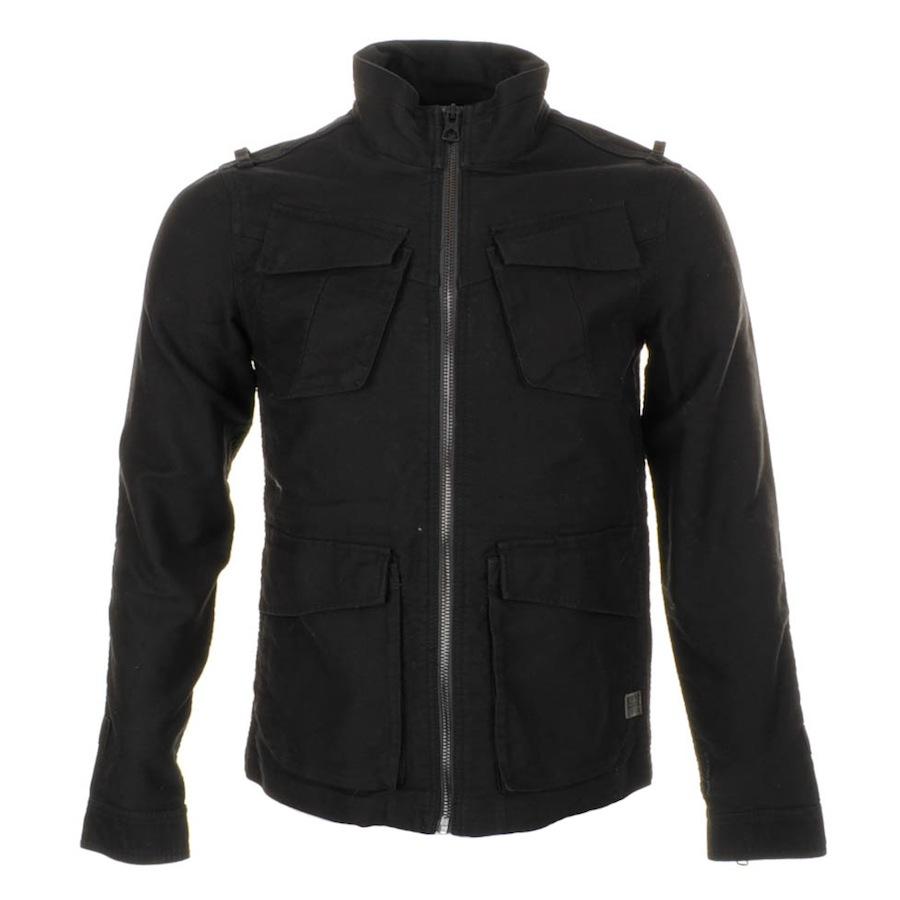 g star raw trooper overshirt jacket in black for men lyst. Black Bedroom Furniture Sets. Home Design Ideas