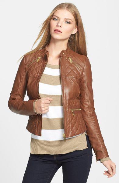 Michael Kors Luggage Leather Jacket