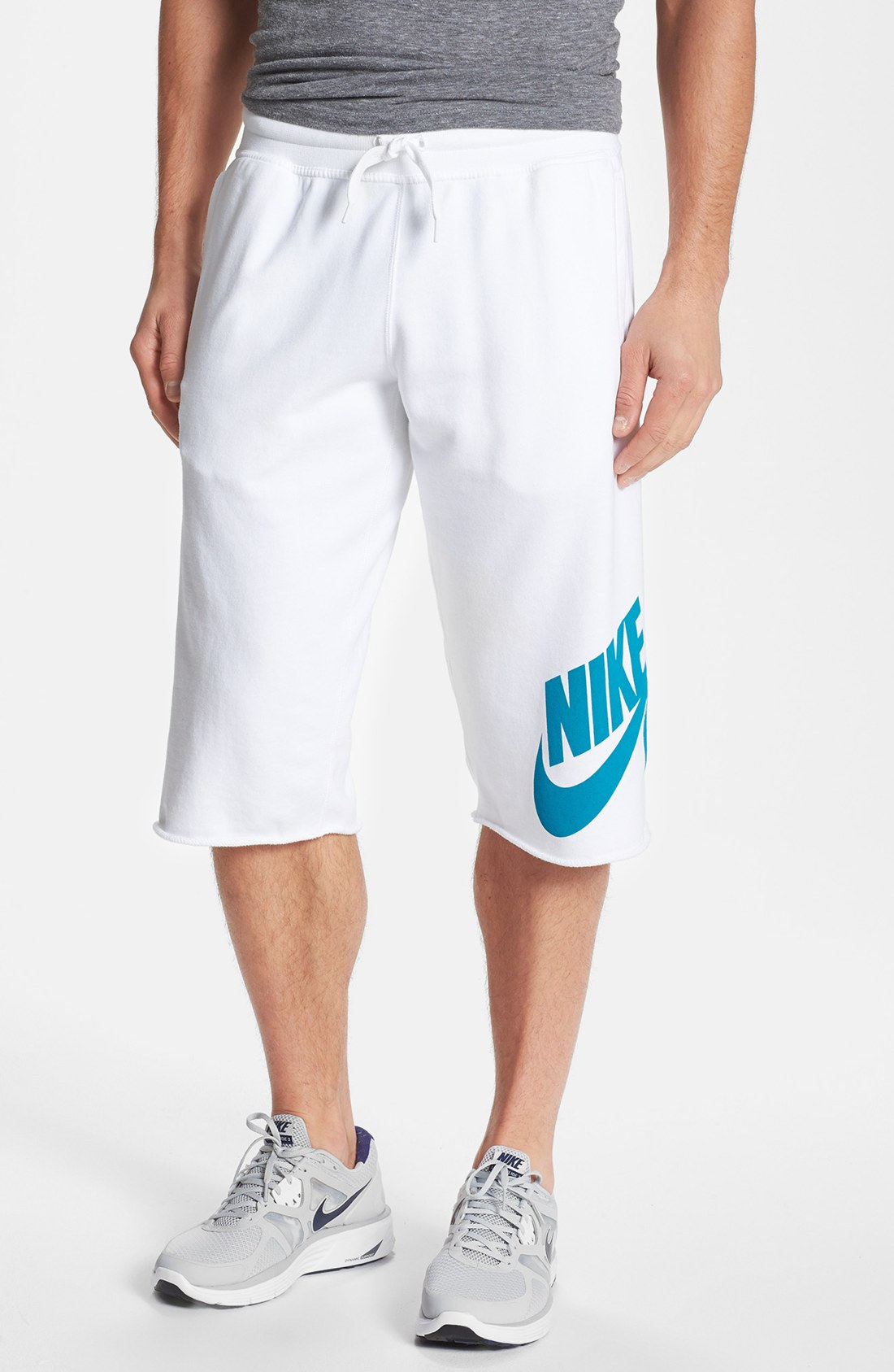 Nike Heritage Pickup Game Basketball Shorts In White For
