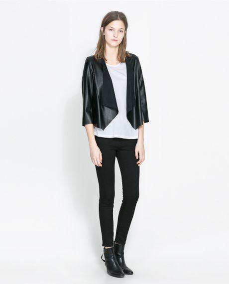 430c6813 Zara Faux Leather Jacket   Yellow Dresses