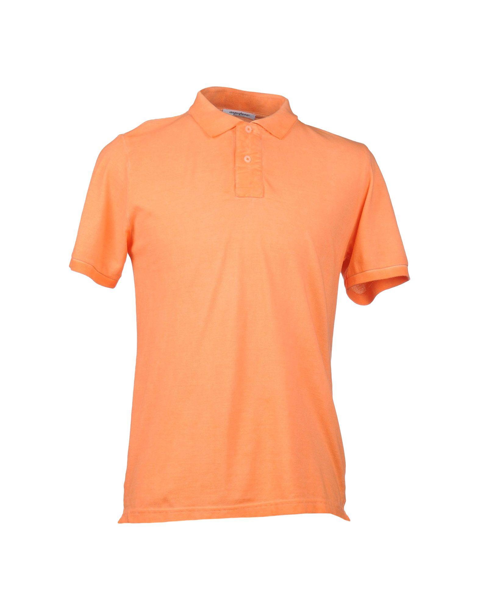 Acquapura polo shirt in orange for men lyst for Orange polo shirt mens