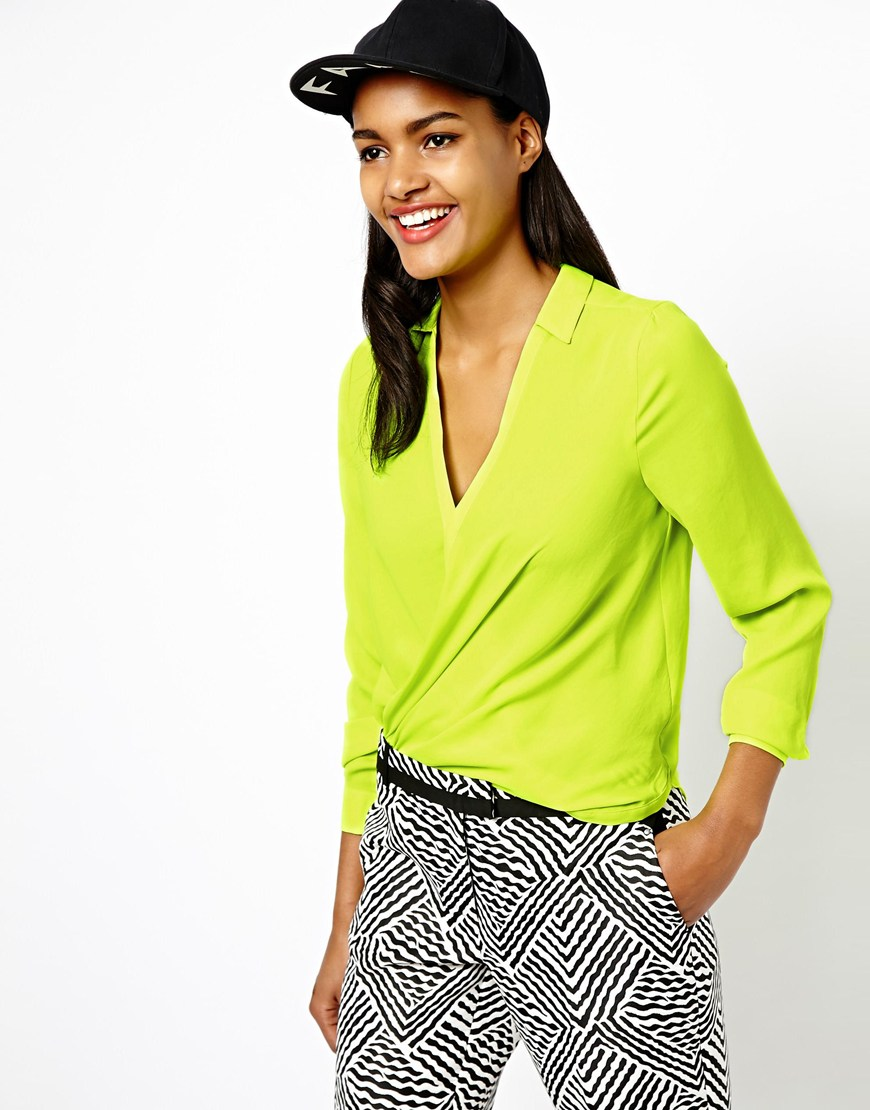 Lime Green Blouse Womens 56