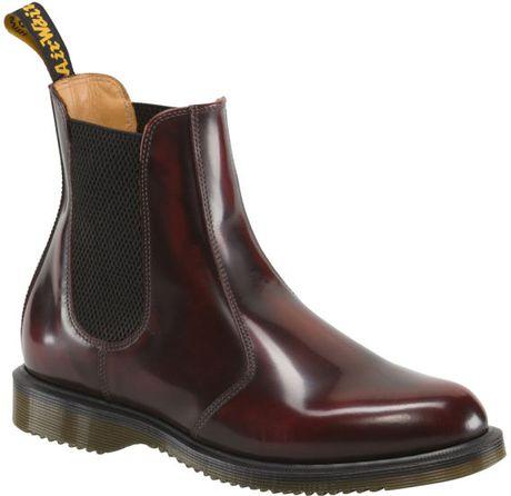 dr martens women 39 s kensington flora chelsea boots in red for men burgundy lyst. Black Bedroom Furniture Sets. Home Design Ideas