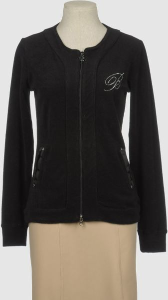 Blumarine Zip Sweatshirt in Black
