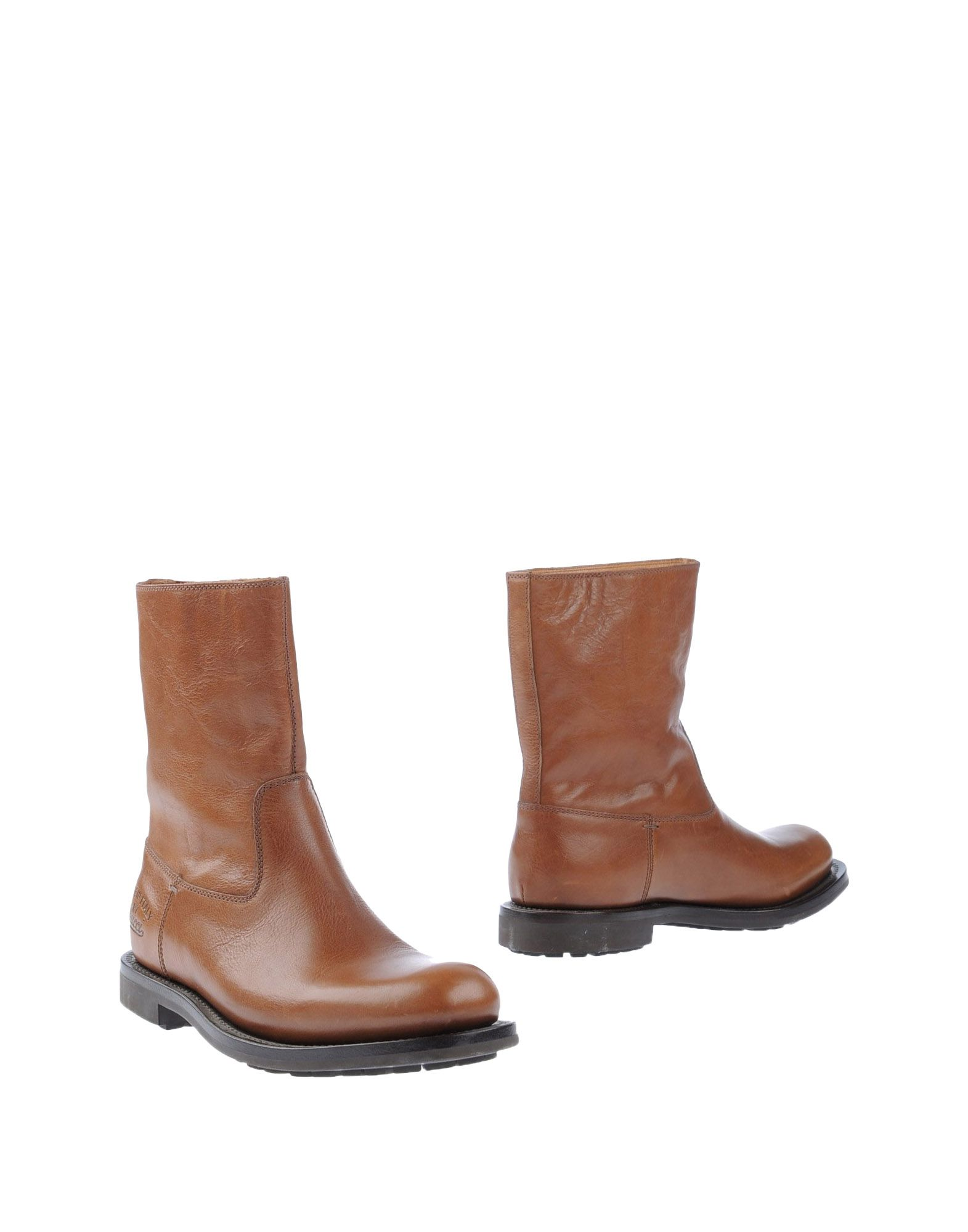 gucci combat boots in brown for lyst