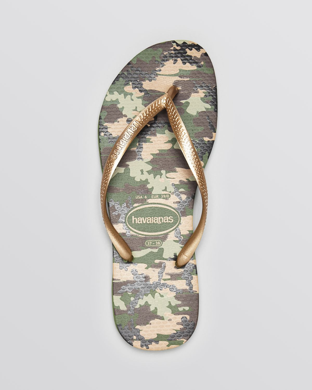 338448cdb9e39 Lyst - Havaianas Flip Flops - Slim Camuflada in Green