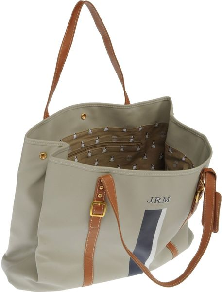 jack russell malletier large fabric bag in gray light grey lyst. Black Bedroom Furniture Sets. Home Design Ideas