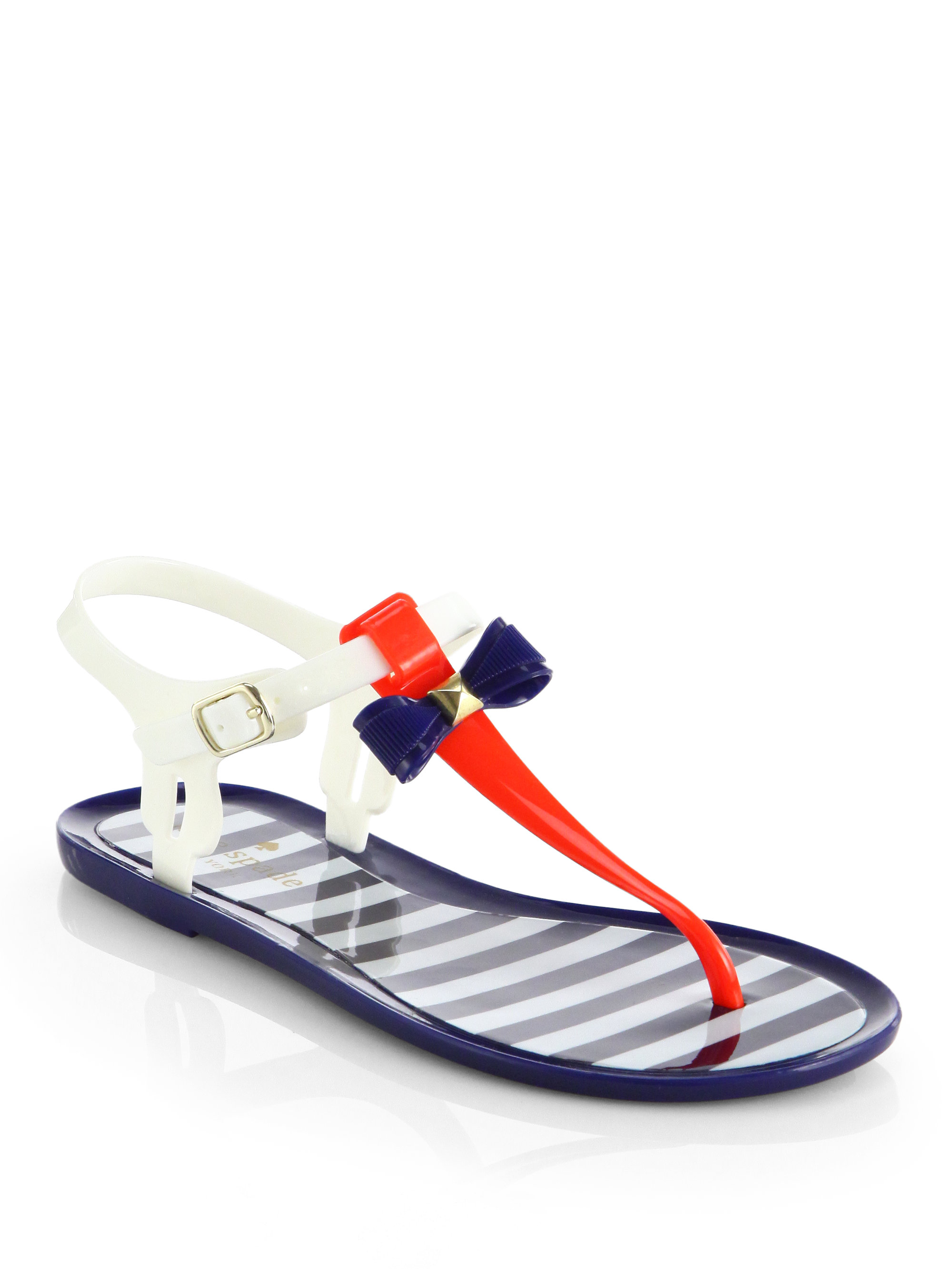 Lyst - Kate spade new york Fresh Jelly Bow Sandals