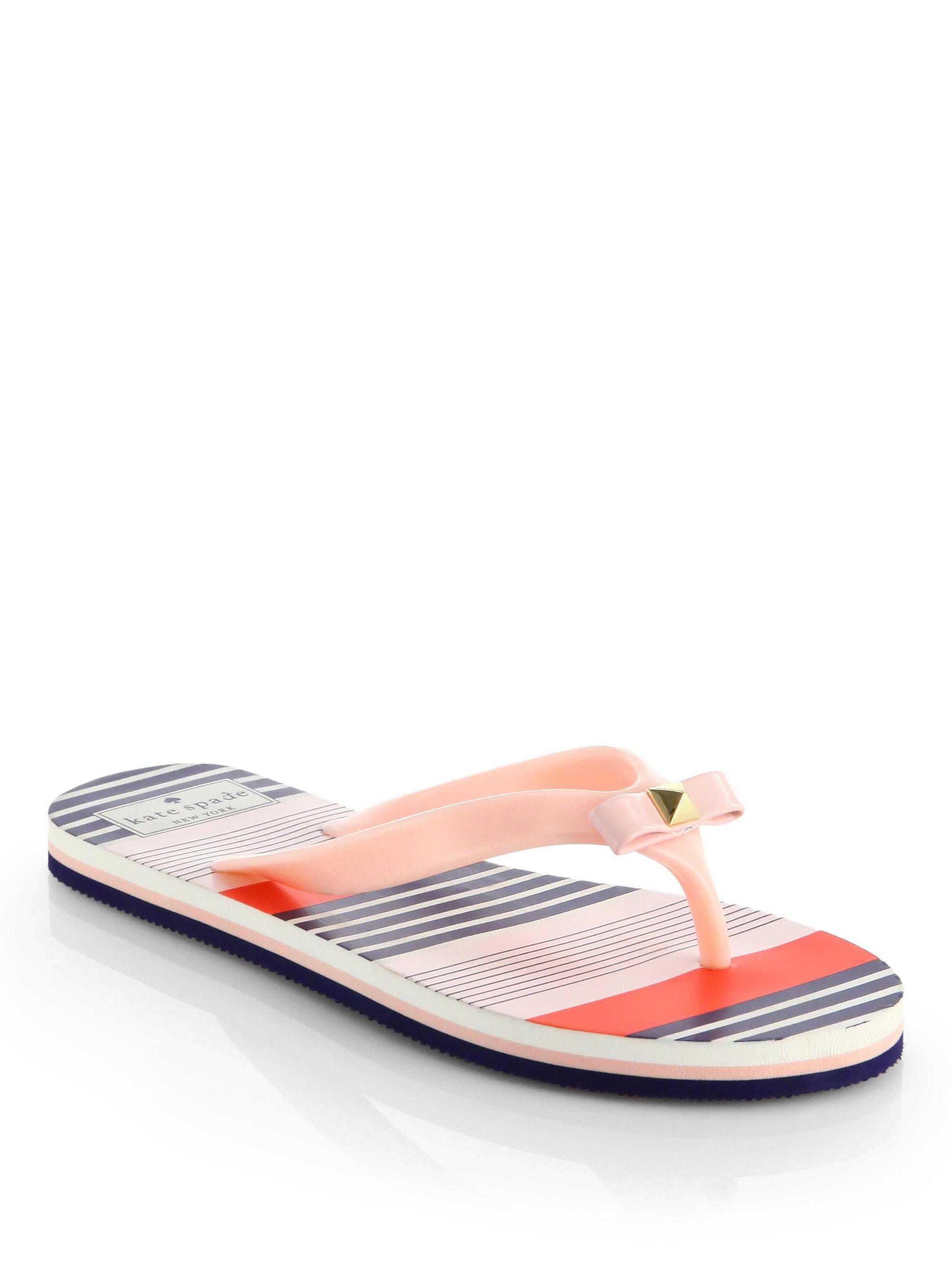 c616223235a7 Lyst - Kate Spade Fiji Bow Flip Flops in Pink