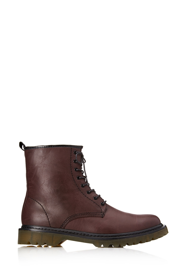 Forever 21 Classic Combat Boots in Red for Men
