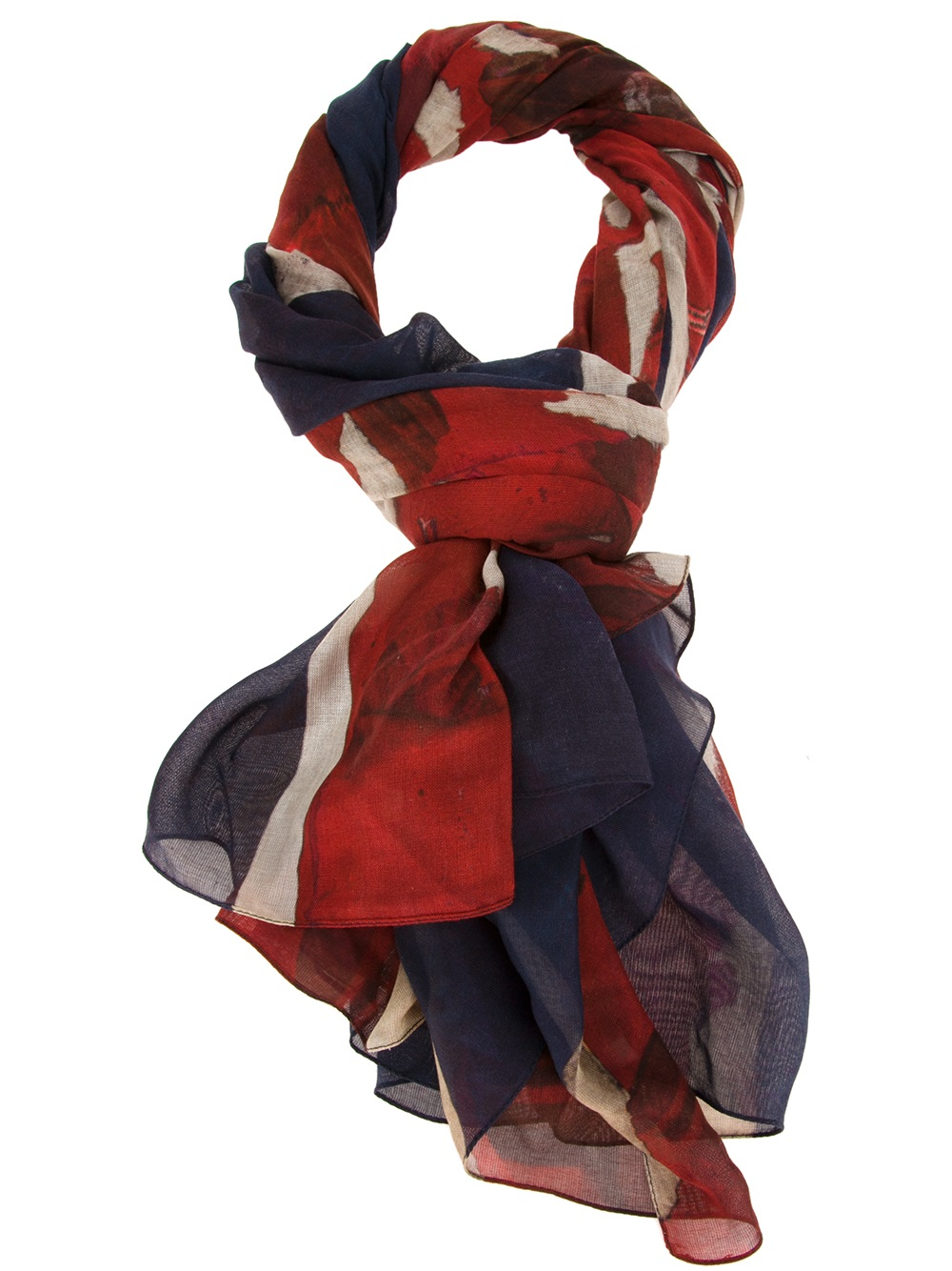 Lyst Alexander mcqueen Union Jack Scarf in Red for Men