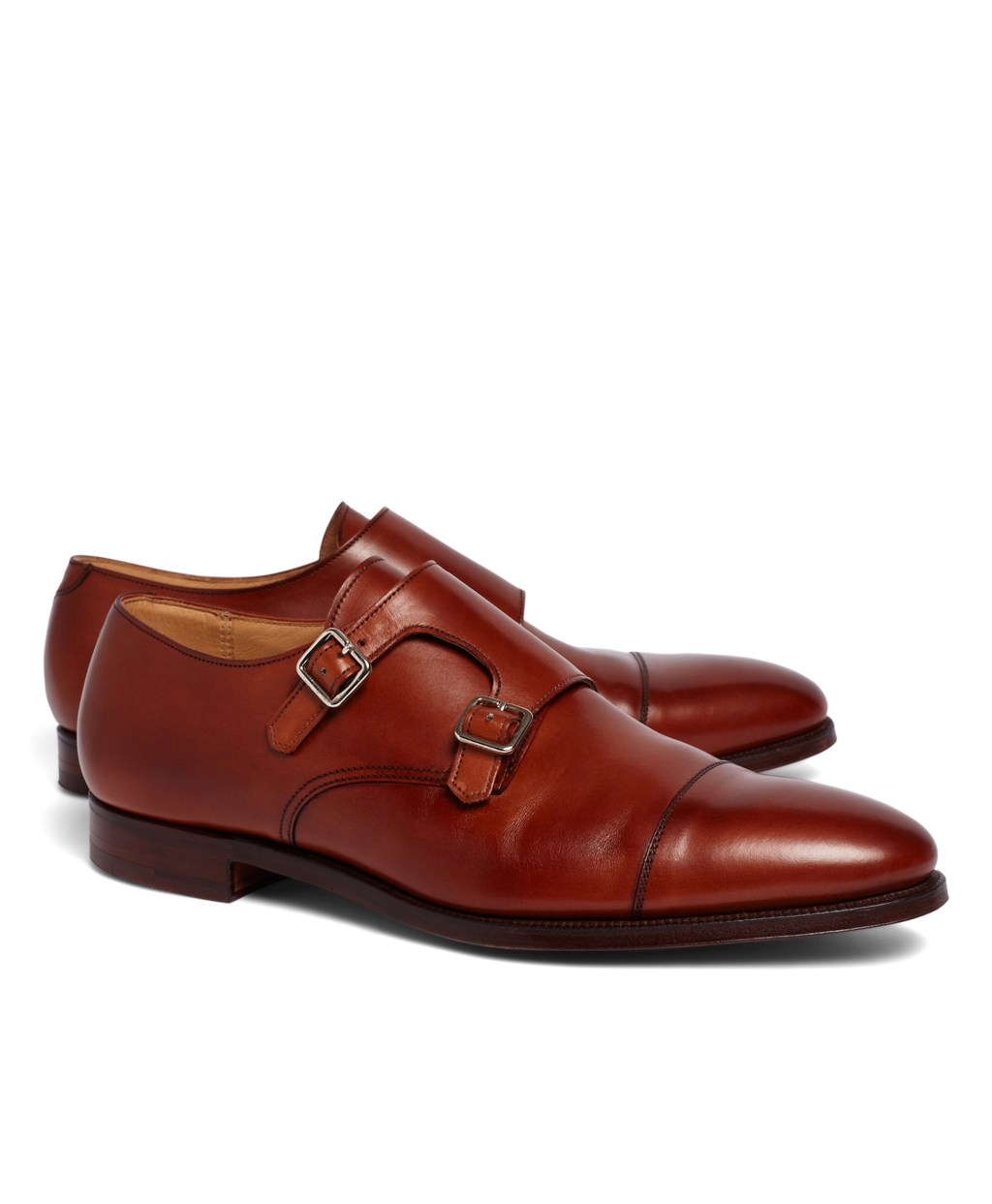 Leather Monk Shoes Double Strap