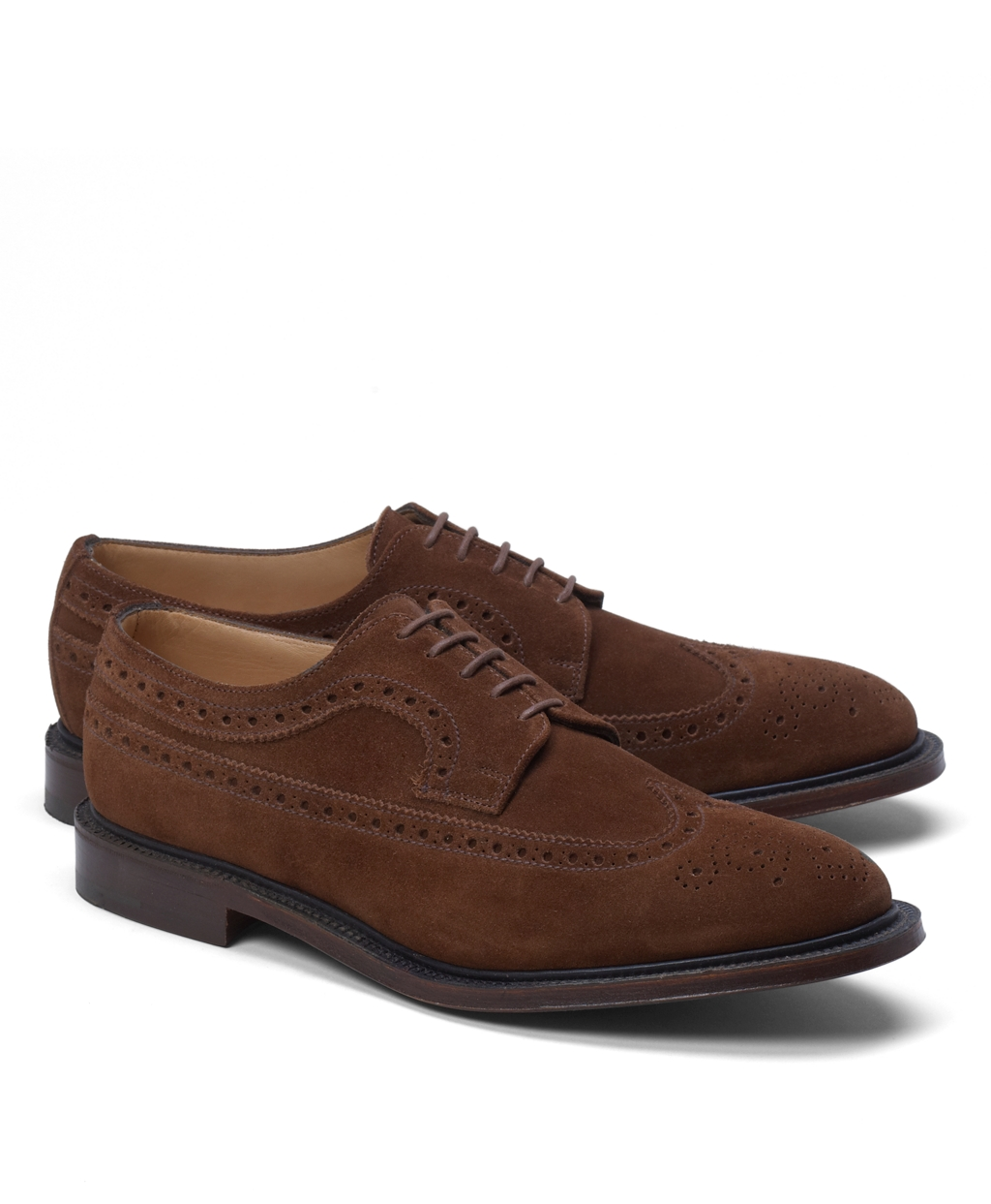 Brooks brothers Peal & Co.® Suede Long Wingtips in Brown ...
