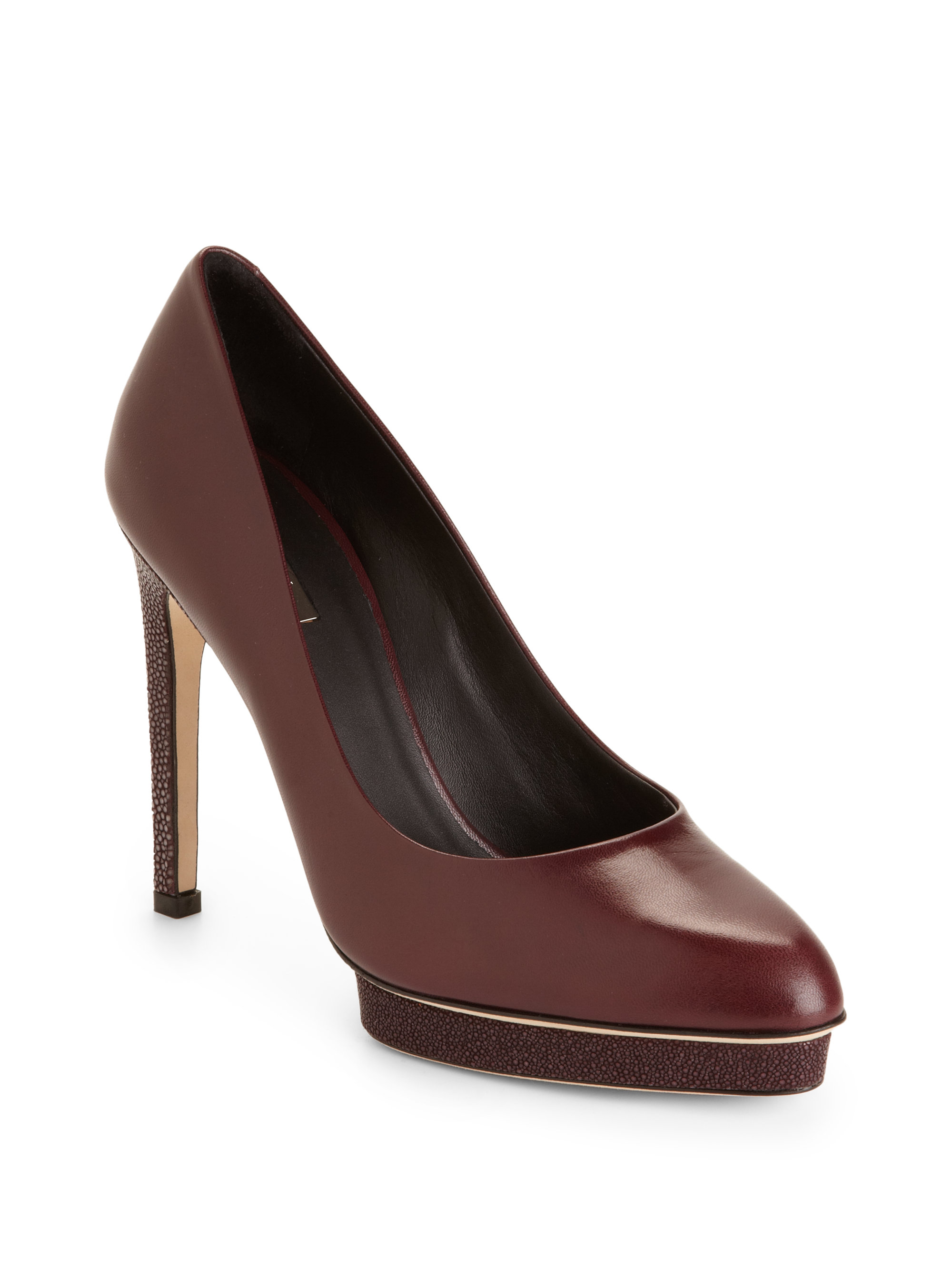 Stingray Leather Shoes Womens