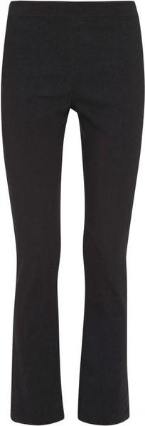 Donna Karan New York Wide-leg Stretch-silk Pants in Black