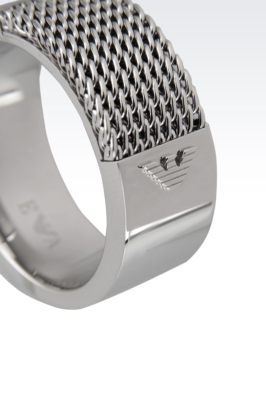 Lyst Emporio Armani Ring in Metallic for Men