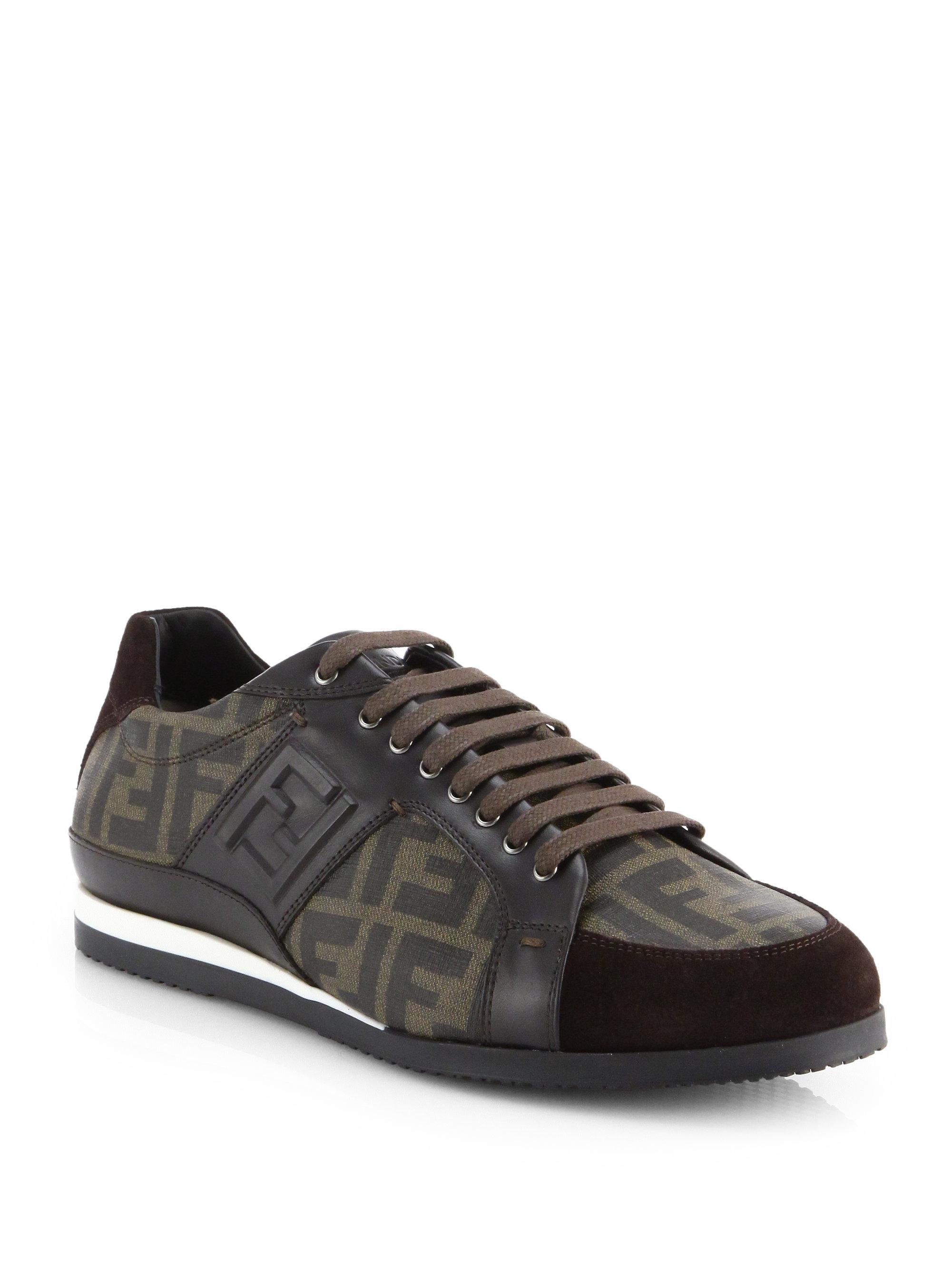 Fendi Zucca Shoes Men