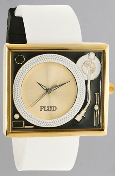 flud watches the turntable in gold for lyst