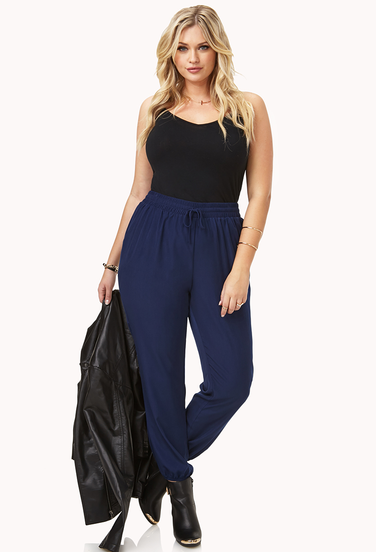 Lyst Forever 21 Minimalist Harem Pants In Blue