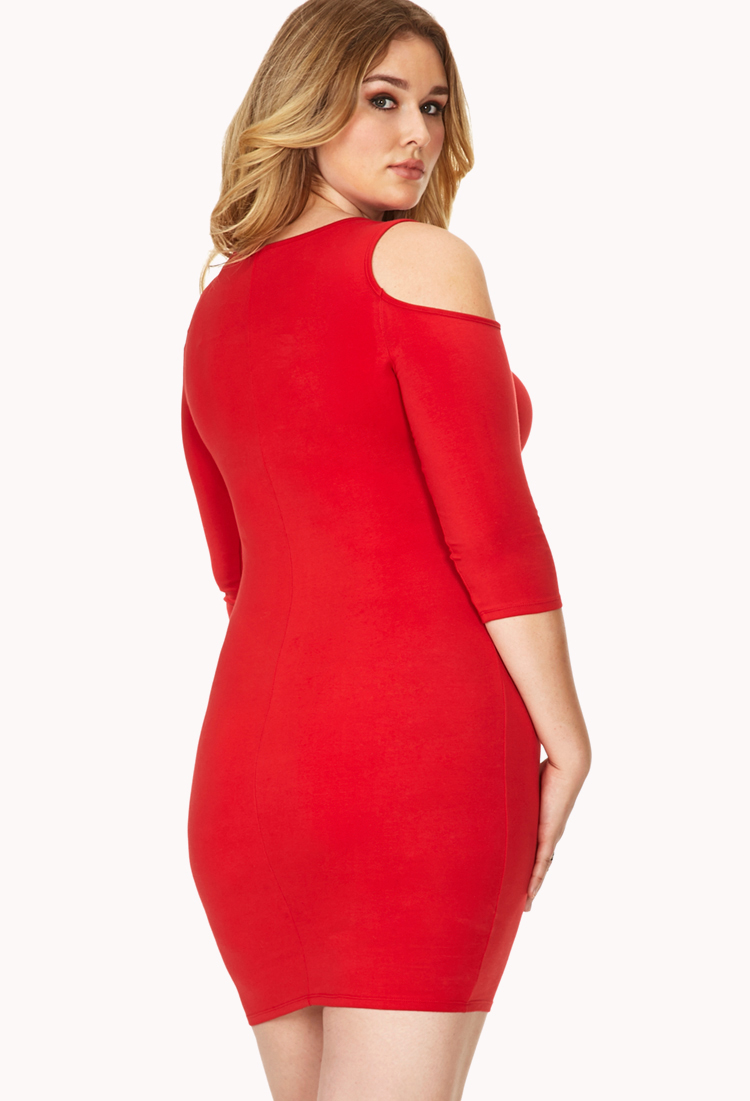 Crossed the red bodycon dress forever 21