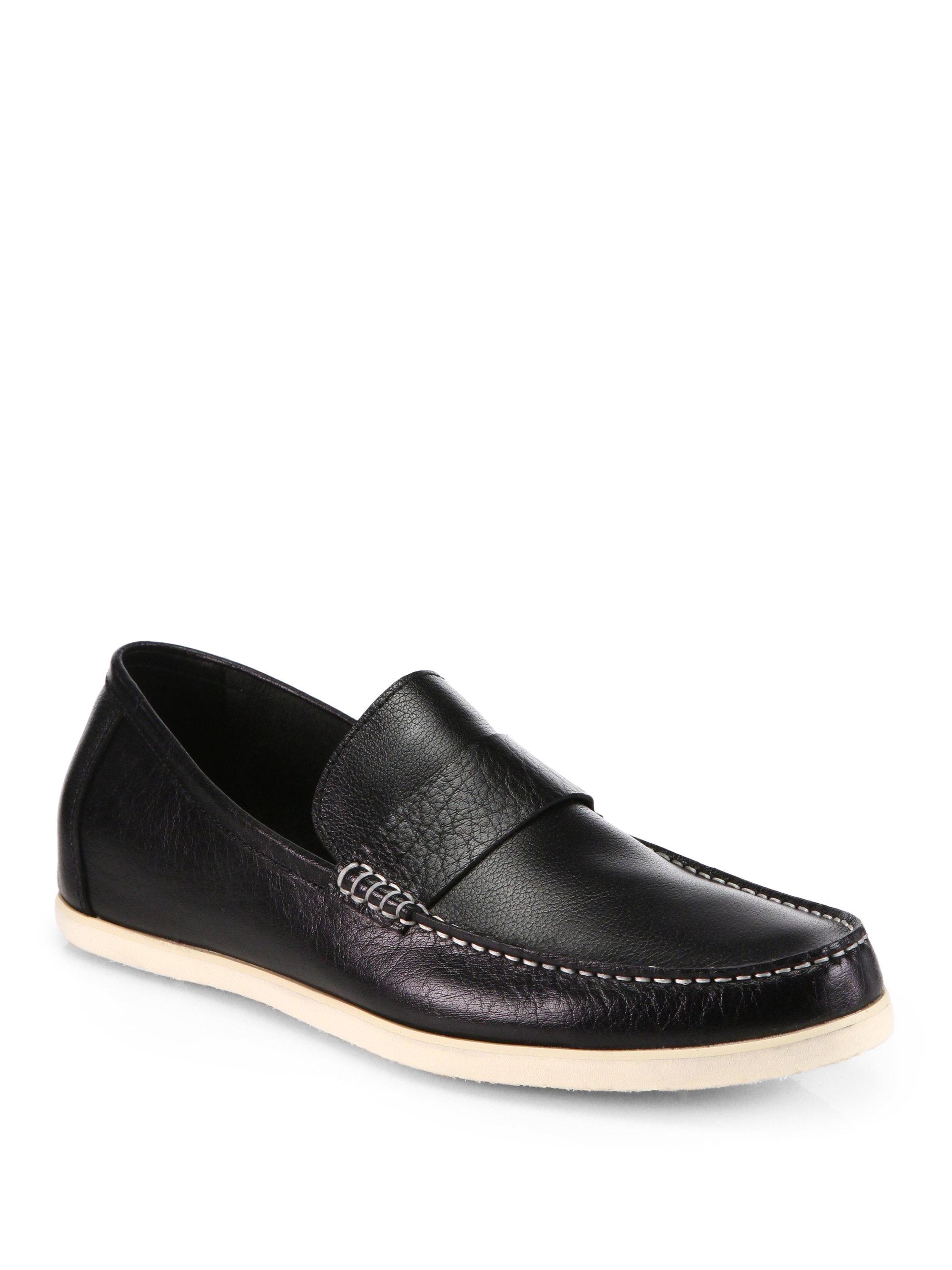 jd fisk eli slipon shoes in black for lyst