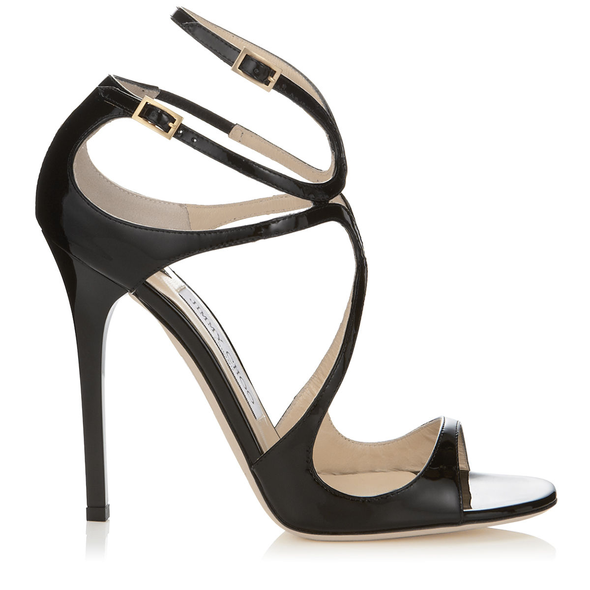 Jimmy Choo Fiscal Strappy Woven Leather Sandal In Black