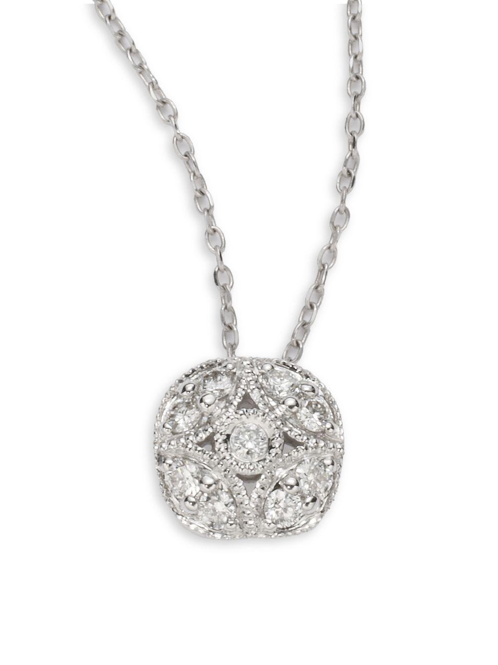 lyst kc designs diamond 14k white gold dot pendant. Black Bedroom Furniture Sets. Home Design Ideas
