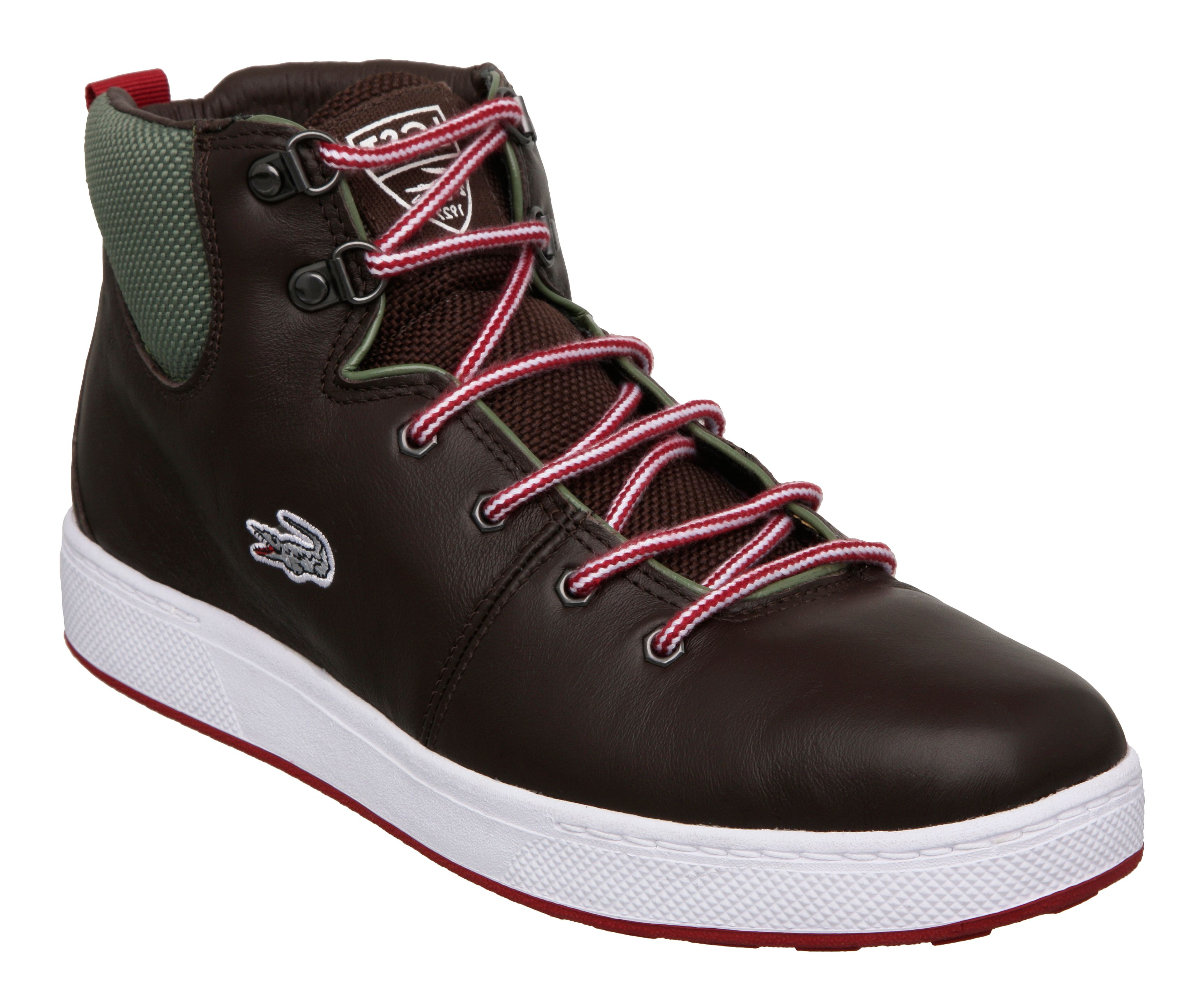 Lacoste Studland Ci Spm High Top Trainers in Brown for Men ...