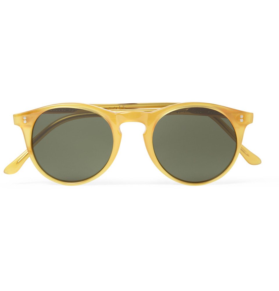 c4c3afd3ab2 Oliver Spencer Sid Roundframe Acetate Sunglasses in Yellow for Men ...