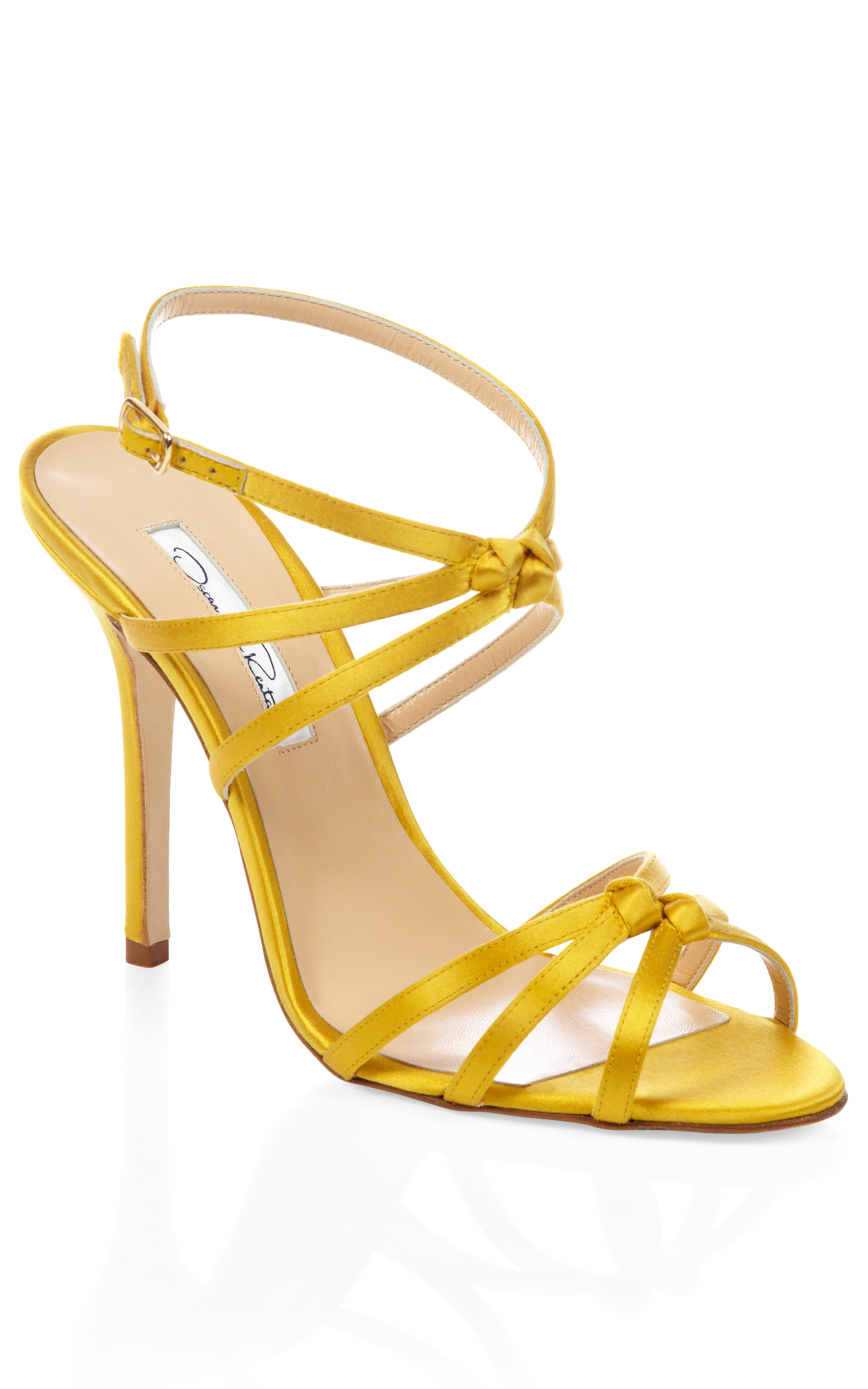 Yellow Strappy Heels | Tsaa Heel