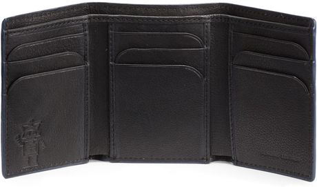 Robert Graham Richards Tri Fold Leather Wallet In Black