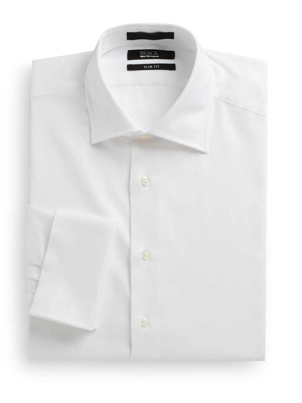 Saks fifth avenue black label slim fit french cuff royal White french cuff shirt slim fit