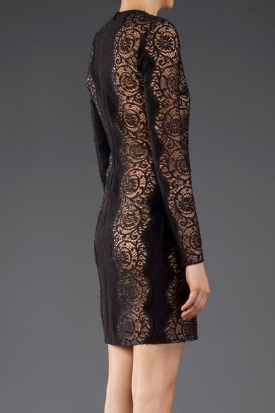 Stella Mccartney Long Sleeve Lace Dress In Black Lyst