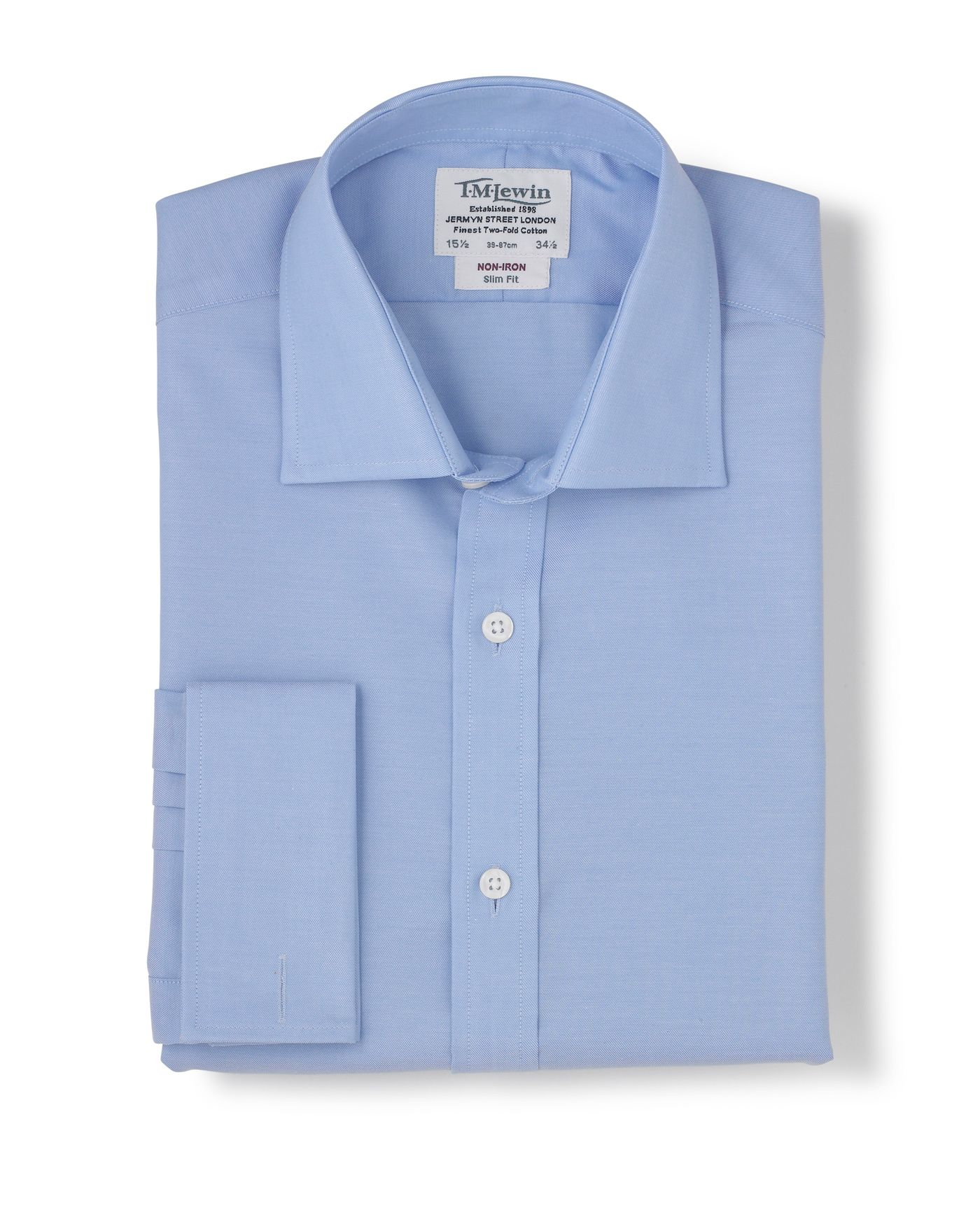 Tm Lewin Non Iron Slim Fit Shirt In Blue For Men Lyst