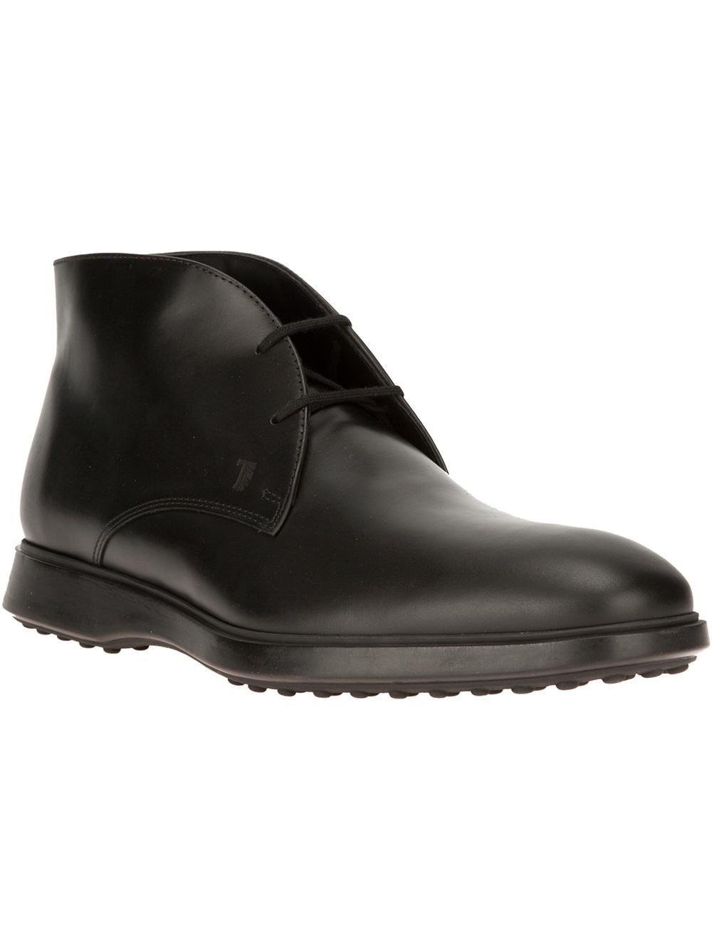 tod 39 s desert boot in black for men lyst. Black Bedroom Furniture Sets. Home Design Ideas