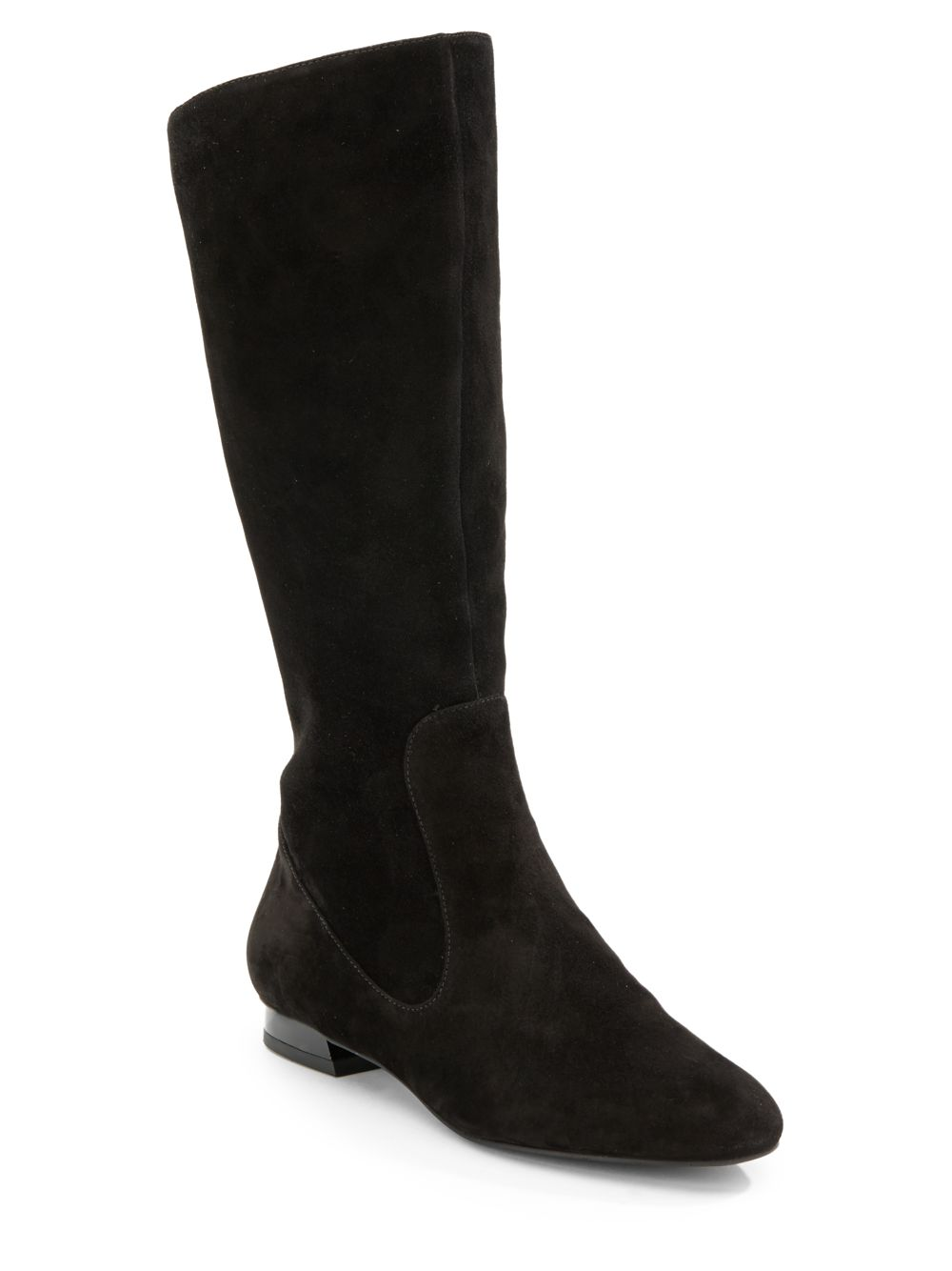 via spiga kneehigh suede boots in black lyst